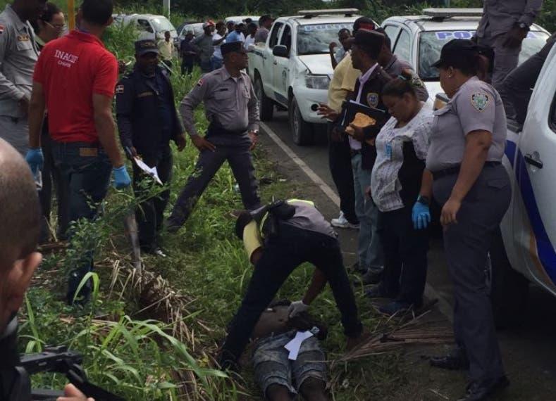 Multitud lincha un delincuente en Yaguate,  San Cristóbal
