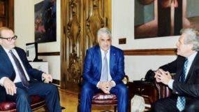 José Tomás Pérez, Miguel Vargas y Luis Almagro conversaron sobre el país, de Haití y de Venezuela.