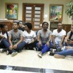 Los jóvenes que ocuparon la cuarta planta de la Procuraduría.