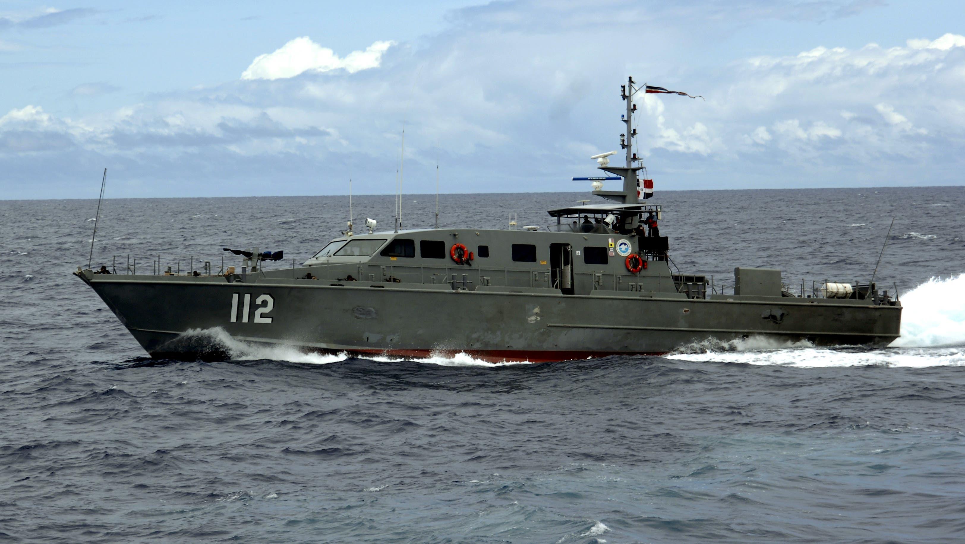 """Guardacosta """"Altair"""" GC-112 de la Armada Dominicana. (Foto de archivo)."""
