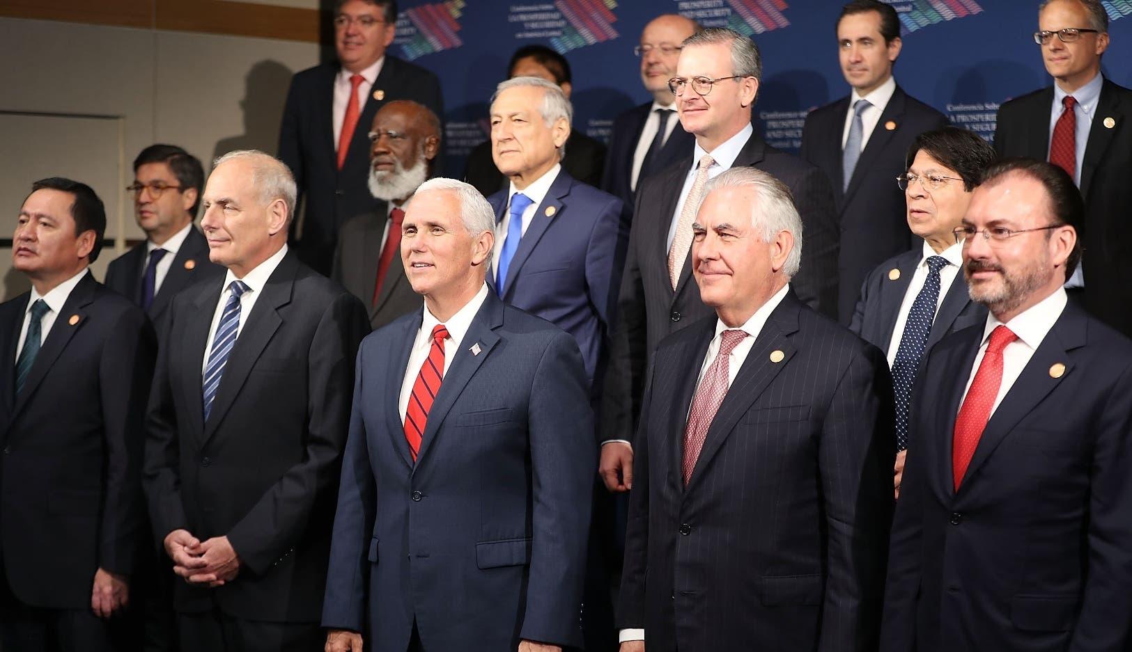 El vicepresidente Mike Pence se reunió con mandatarios y funcionarios de Guatemala, Honduras, El Salvador y México.