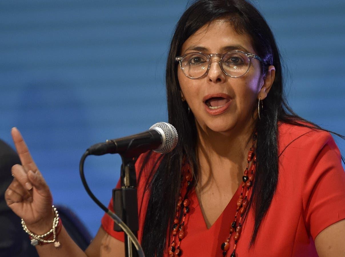 """Vicepresidenta de Venezuela llama a Guaidó a """"reflexión"""" y parar la """"locura»"""