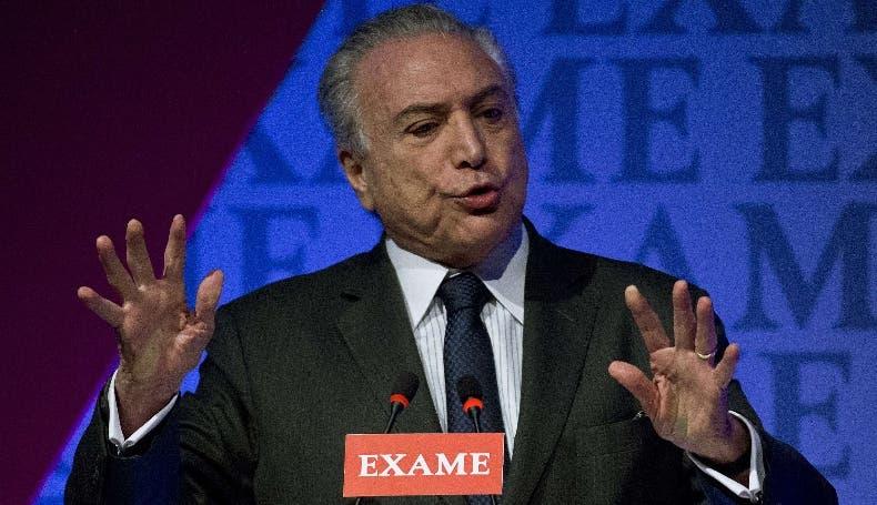 El presidente Michel Temer podría ser destituido en Brasil.