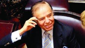 Carlos Menem, expresidente argentino y actual senador.