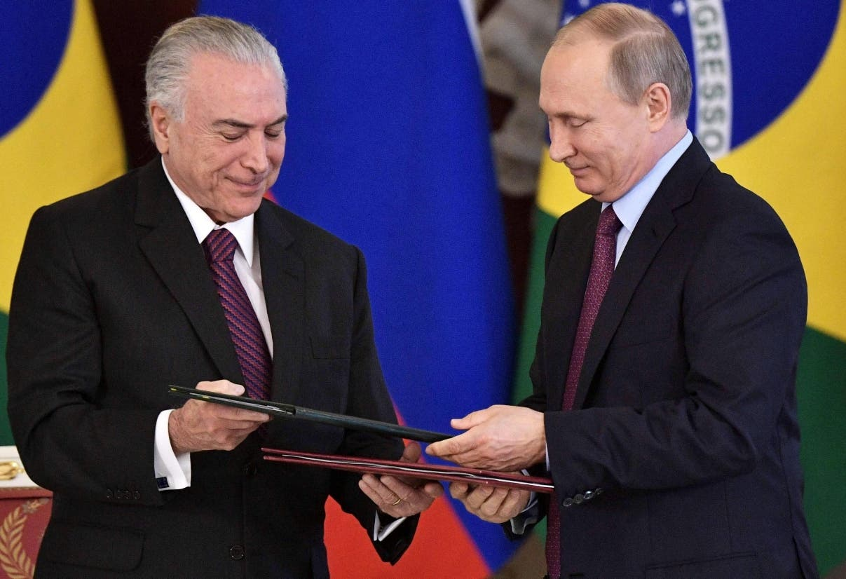 Los presidentes Vladimir Putin y MIchel Temer  reforzarán su incidencia  en foros internacionales.