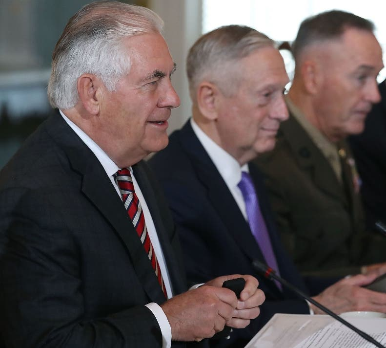 El secretario de Estado Rex Tillerson encabezó la reunión.