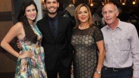 Cristina Rodríguez, Miguel Alejandro, Carmen Sosa y  Miguel Ángel Rodríguez.