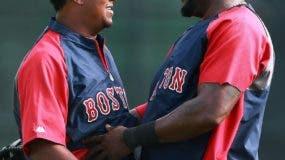 Pedro Martínez y David Ortiz disfrutaron de una gran estadía con los Medias Rojas de Boston.