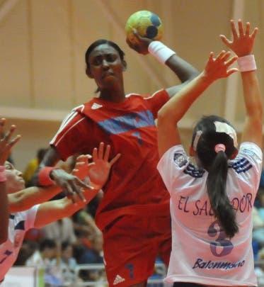 Acción en balonmano.
