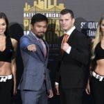Manny Pacquiao, izquierda y Jeff Horn quienes mañana subirán al ring en un espectacular combate.