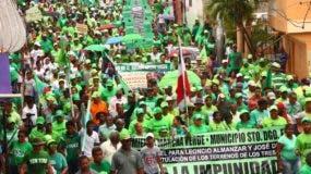 En el país se han realizado varias marchas en reclamo de que se sancione a los corruptos.