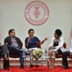 Rosa Alcántara, German Marte, Edith Febles, Coralis Orbe y Gustavo Olivo, en el panel celebrado en Intec.