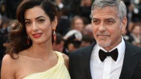 Amal y  George Clooney. AFP