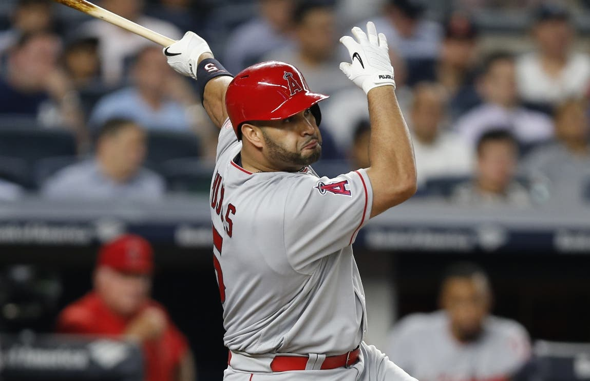Albert Pujols de los Angelinos de Los Angeles. AFP/archivo.