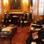 Danilo Medina y otros miembros del Consejo de la Magistratura.