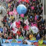 Los organizadores dicen que movilizaron 18 mil personas.