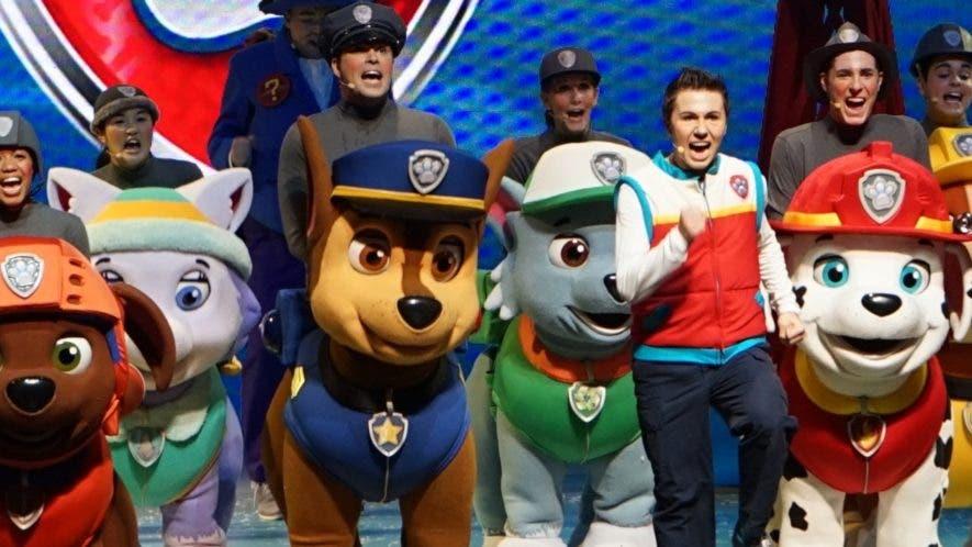 """Parte de los personajes infantiles que participan del espectáculo """"Paw Patrol ¡Al Rescate!"""", que será presentado en octubre."""