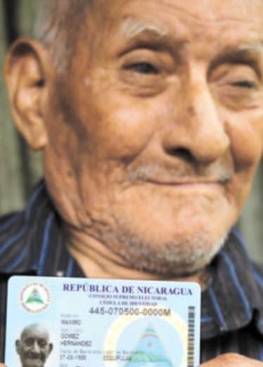 Máximo Gómez,  el nicaragüense de 117 años