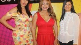 Gema Carolina Miranda, Matty Frías y Glenys Romel.
