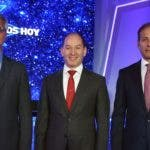 Juan Pablo Romero, Omar Acosta y Carlos Cueto.