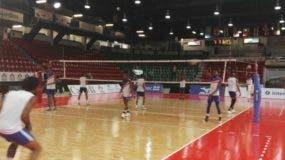 El equipo dominicano durante un partido de preparación.