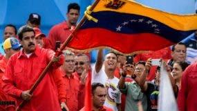 El presidente Nicolás Maduro hizo un multitudinario acto proselitista en Caracas.