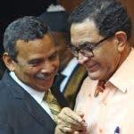 Radhamés Segura y César Sánchez conversan en la Suprema.