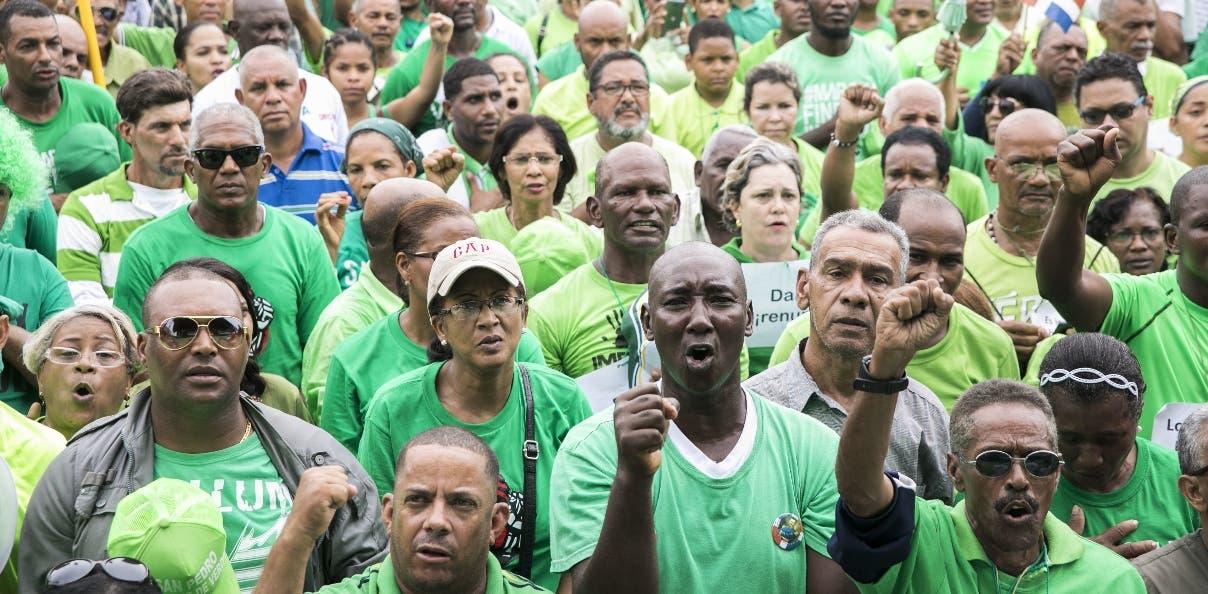 La Marcha Verde ha logrado movilizar a miles de dominicanos.
