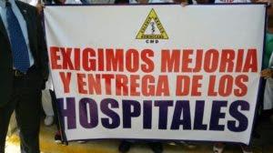 El CMD reclama la terminación y entrega de los más de 50 hospitales que están en reparación simultánea.