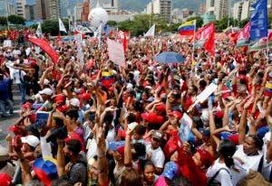 Seguidores del presidente Nicolás Maduro, durante una demostración en apoyo a la Constituyente.