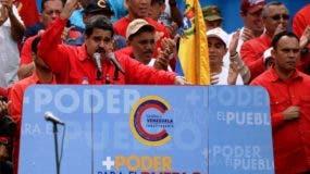 El presidente de Venezuela, Nicolás Maduro, durante un mitín en apoyo a la Constituyente.