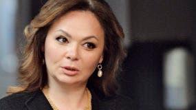 La abogada Natalia Veselnitskaya habla a la prensa en Moscú.