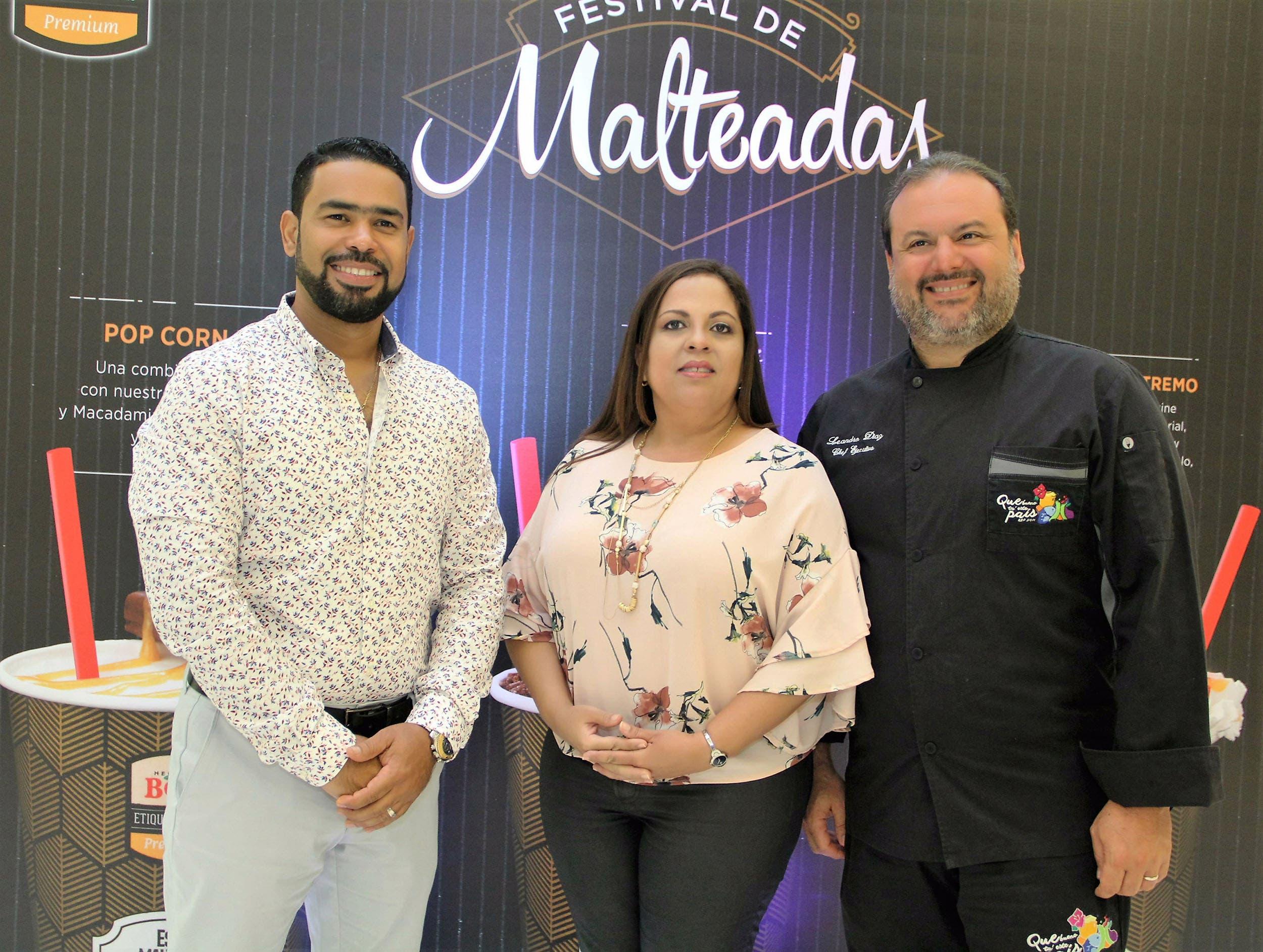 Roberto Caraballo, Carolina Pantaleón y Leandro Díaz.