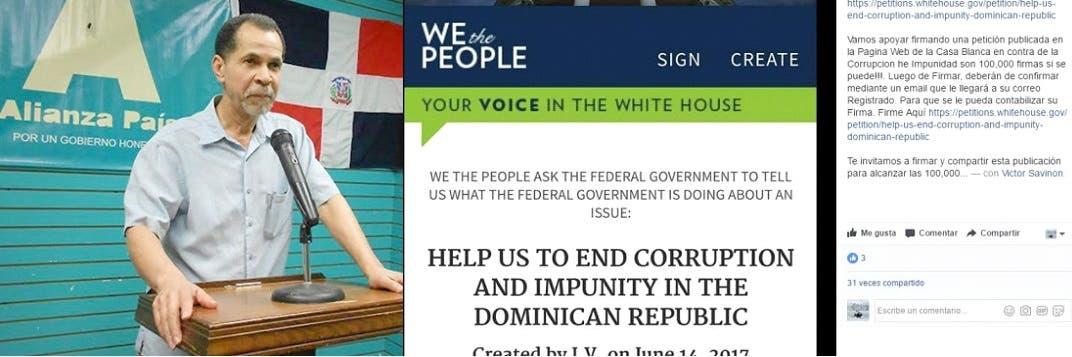 El coordinador general de Alianza País en los Estados Unidos negó que esa entidad esté participando, autorizando o promoviendo a través del portal de solicitudes a la Casa Blanca.