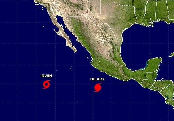 Se forma el huracán Hilary frente a la costa mexicana
