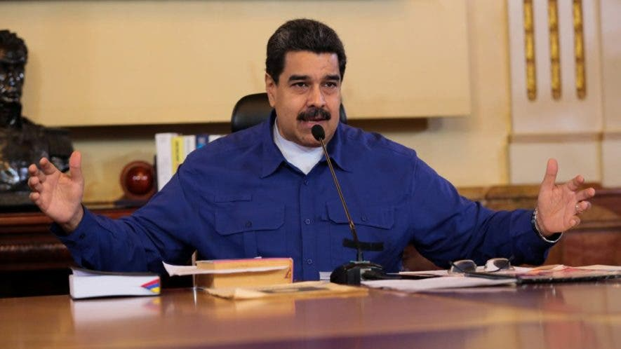 Venezuela's President Nicolas Maduro speaks during a meeting with Vice Presidents at Miraflores Palace in Caracas, Venezuela June 1, 2017. Miraflores Palace/Handout via REUTERS ATTENTION EDITORS - THIS PICTURE WAS PROVIDED BY A THIRD PARTY. EDITORIAL USE ONLY.