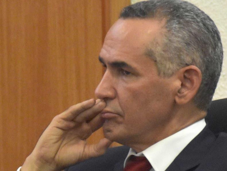 Alberto Holguín durante una de las audiencias por corrupción.