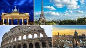 Entre los monumentos más visitados de Europa está el Arco del Triunfo y la Torre Eiffel en París, mientras que en  Italia se encuentra el Coliseo Romano, que constituye  uno de los más aclamados.  puntos