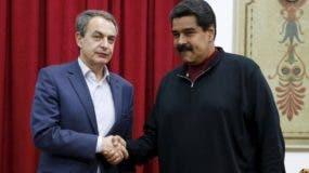 El presidente de Venezuela, Nicolás Maduro, se reunió ayer con ex jefe del Gobierno español José Luis Rodríguez Zapatero. ARCHIVO