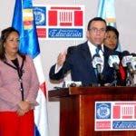 Andrés Navarro cuando anunciaba los resultados de la auditoría a la nómina docente.