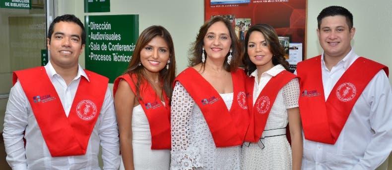 David García, Milagros Choque, Margarita Arbaje, Ariana Blanco y Christian Bécker.