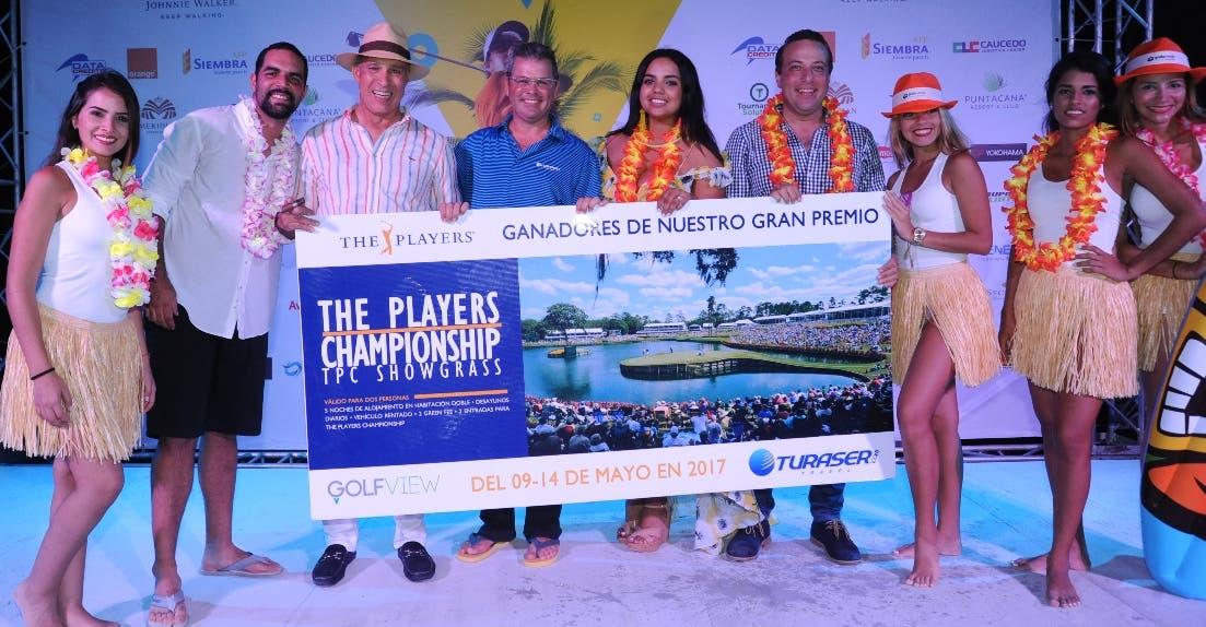 Los ganadores durante la entrega de premios.