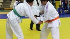 Judocas en acción.