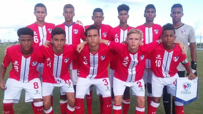 La selección dominicana celebra después de vencer a Nicaragua. Fuente externa