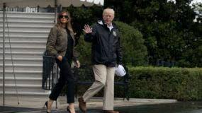 Trump viajó con la primera dama Melania Trump