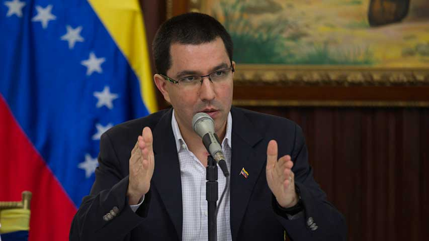 Jorge Arreaza, canciller venezolano. Foto de archivo.