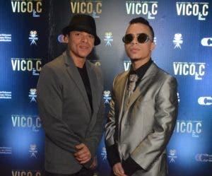 Vico C  y su hijo Luis Armando Lozada, Jr.