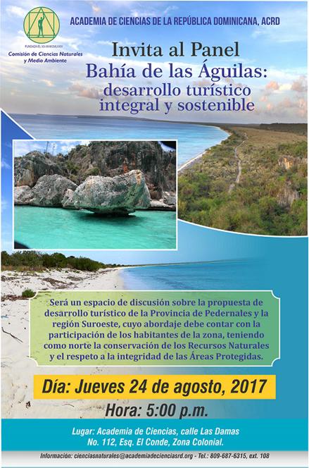 Academia de Ciencias presenta panel Bahía de las Águilas