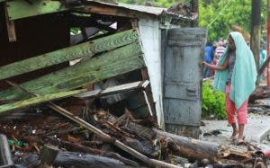 Elizabeth Bencosme Álvarez es otra de las damnificadas por Irma cuya vivienda fue destruida.