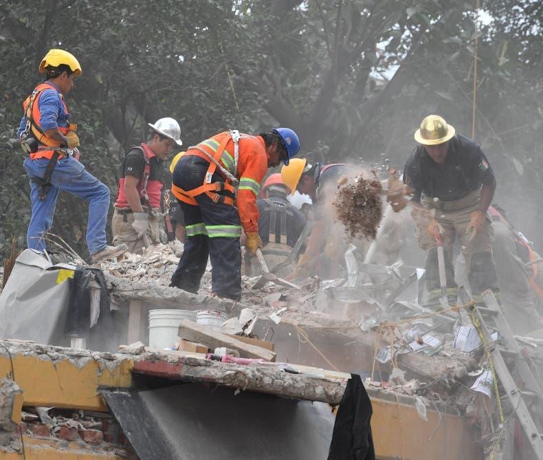 Edificios de Oaxaca totalmente destruidos por el terremoto.